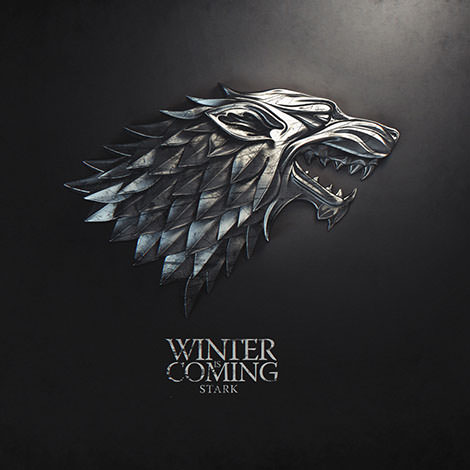 01 game of thrones sign stark winter is coming by melaamory  Gra o tron   tapety z herbami rodów