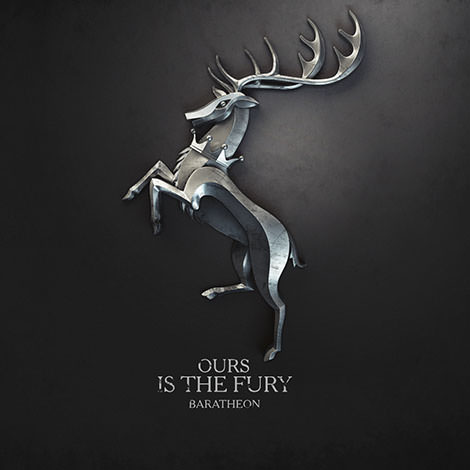 06 game of thrones sign baratheon  ours is the fury by melaamory Gra o tron   tapety z herbami rodów