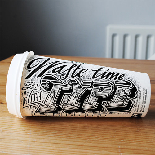 11-waste-time-with-type-coffee-cup-art
