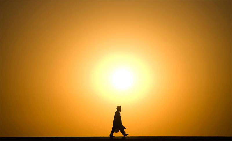 Zachód słońca Afganistan