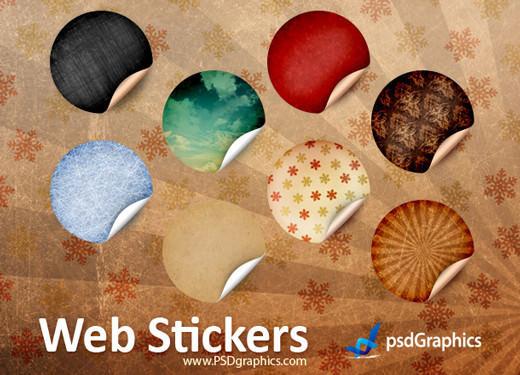 stickery stikery psd