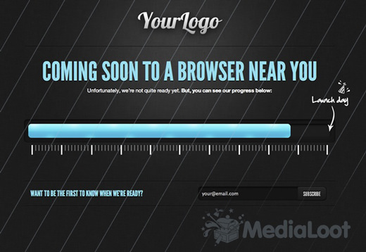 Cooming Soon HTML% template psd
