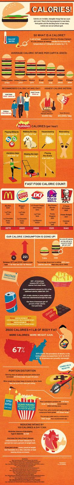 Infografika kalorie