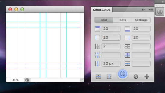 GuideGuide - darmowy plugin Photoshop grid system