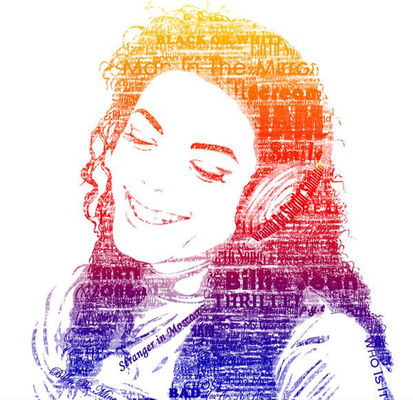 Michael Jackson - portret typograficzny