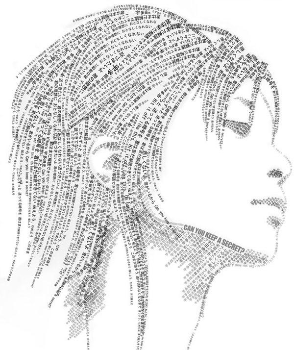 Rihanna - portrety typograficzne