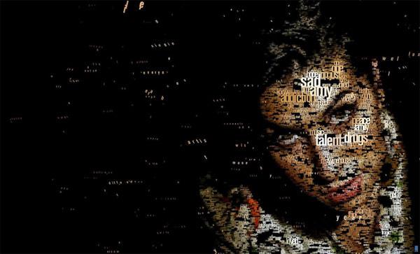 Emy Whitehouse  portret typograficzny
