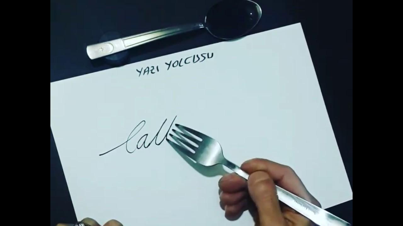 kaligrafia widelcem