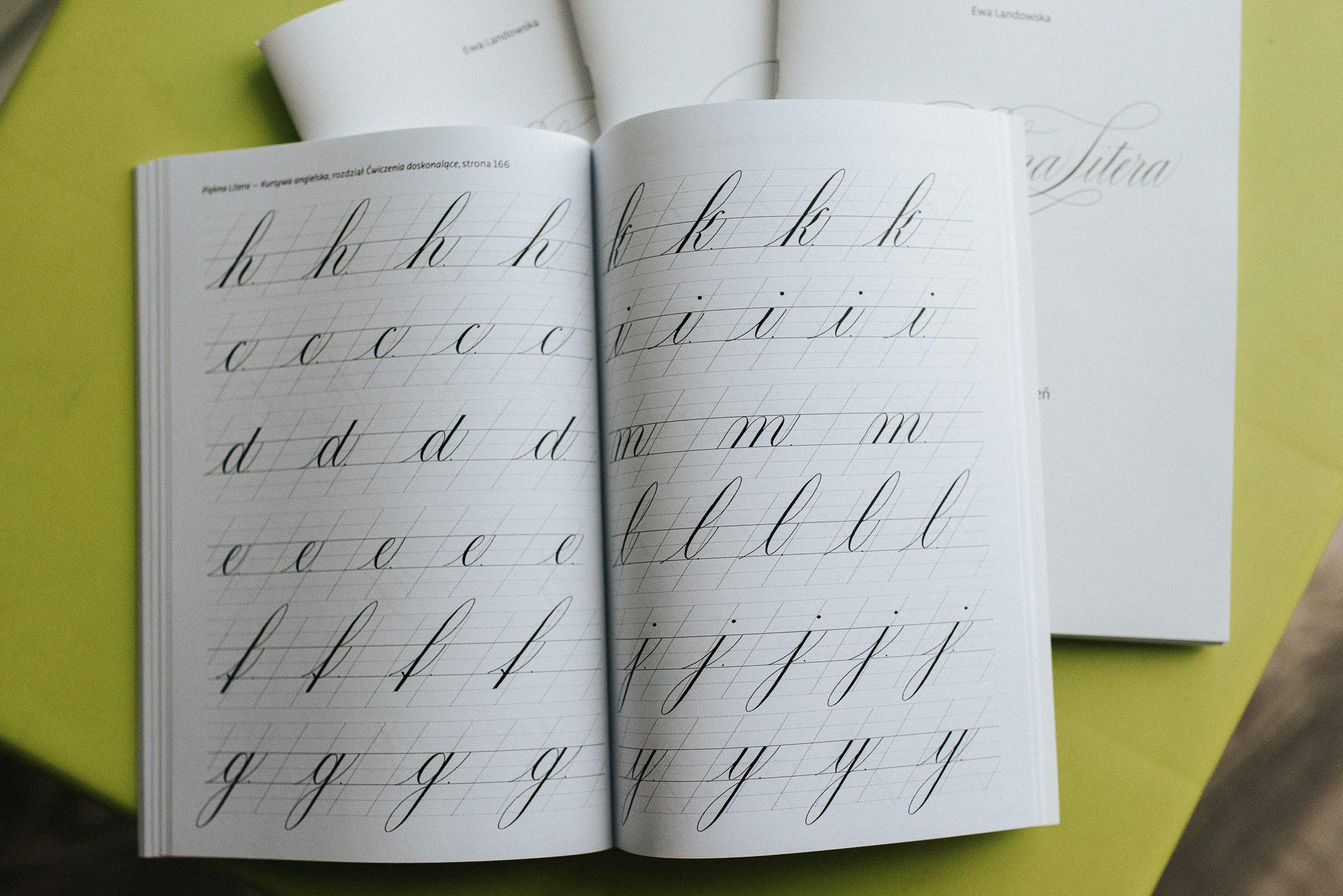 piękna litera zeszyt ćwiczeń