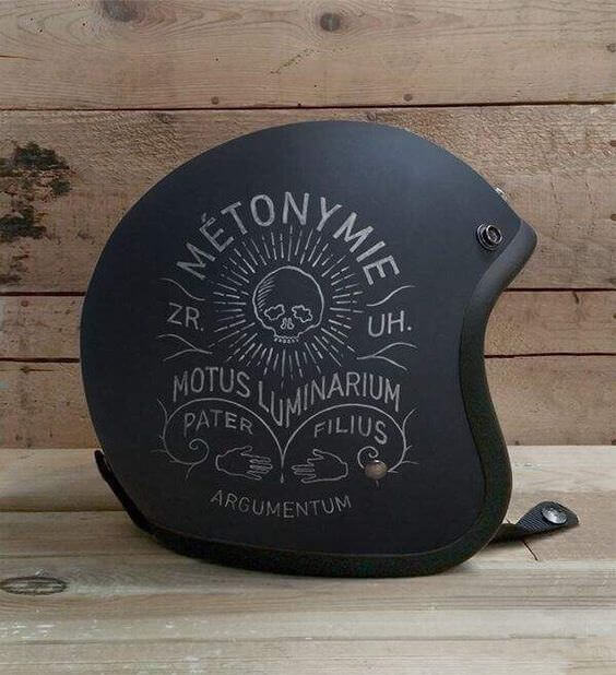 kreatywne kaski na motocykl