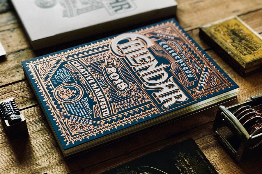 Kalendarz letterpress 2018
