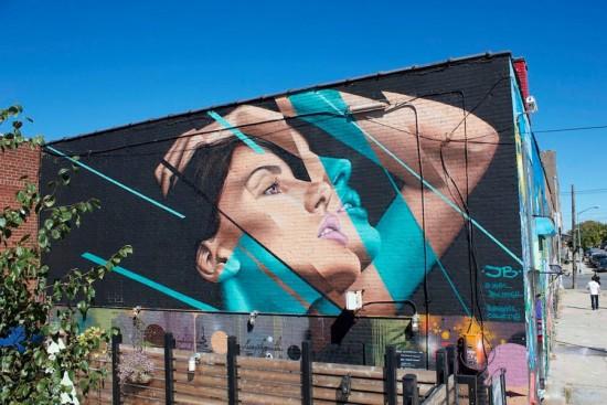 mural portret kobiety