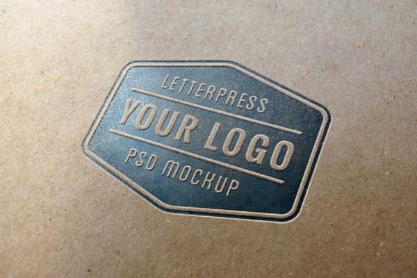 stamplowane logo