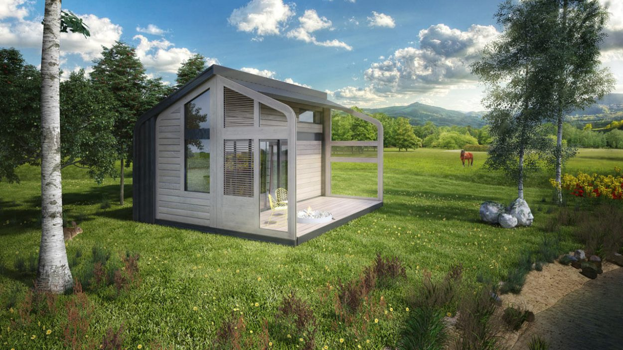 salt water - tiny house - projekt domku letniskowego