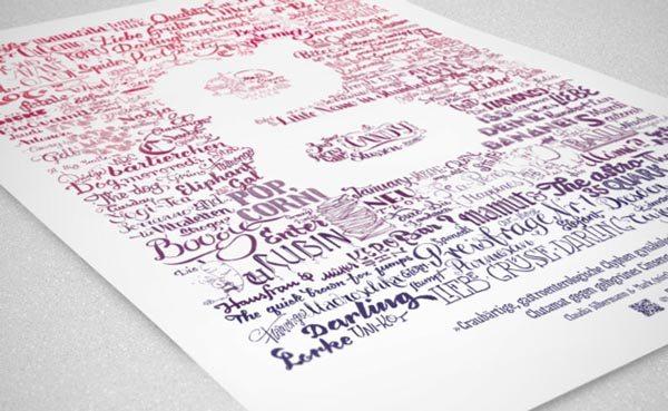 typograficzny plakat hand lettering