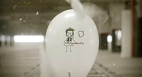 animacja na balonach