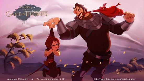Aria Stark i Ogar Disney