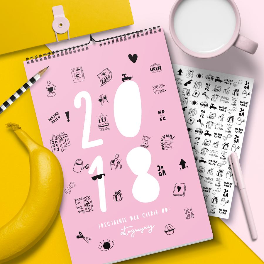 Kolorowy kalendarz 2018 do druku A3 i A4
