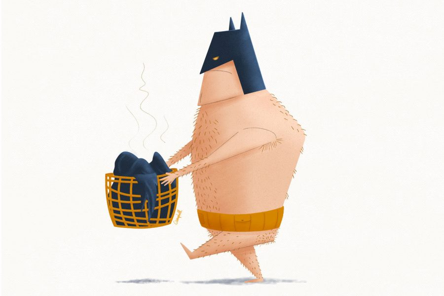 batlife ilustracje co robi batman