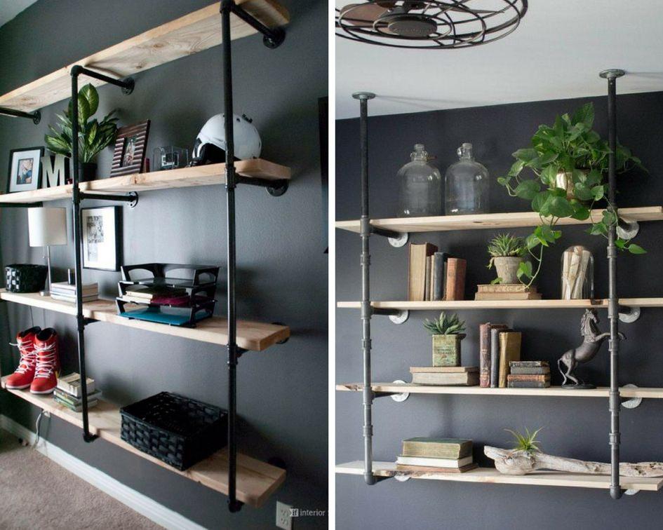 DIY półki z rurek hydraulicznych