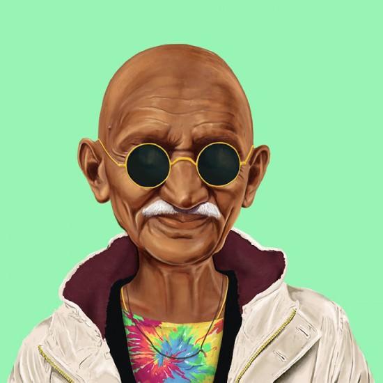 gandhi-hipster