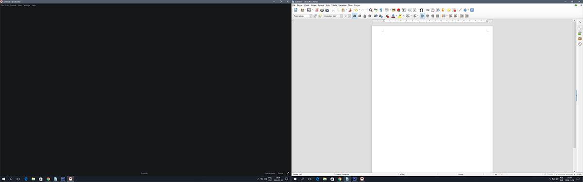 porównanie libre word vs ghostwriter markdown edytor