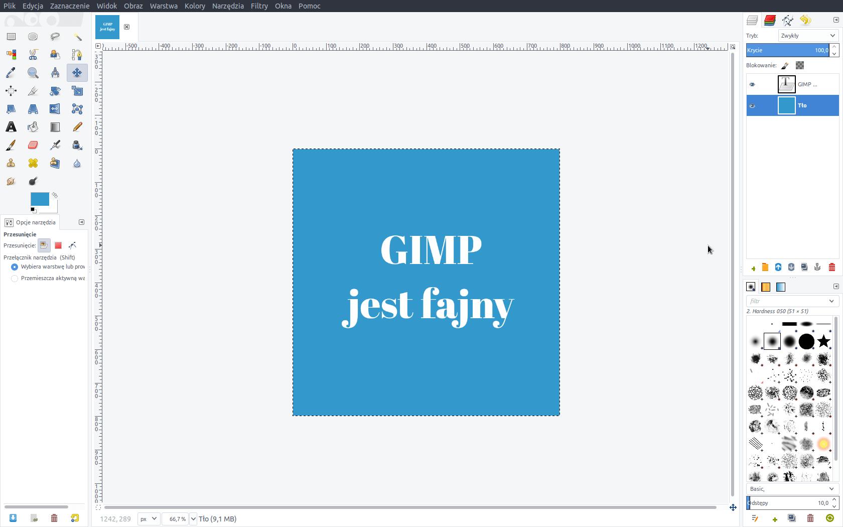 Gimp zamiast Photoshopa na Linuksie