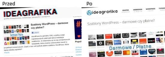 Redesign strony internetowej Ideagrafika