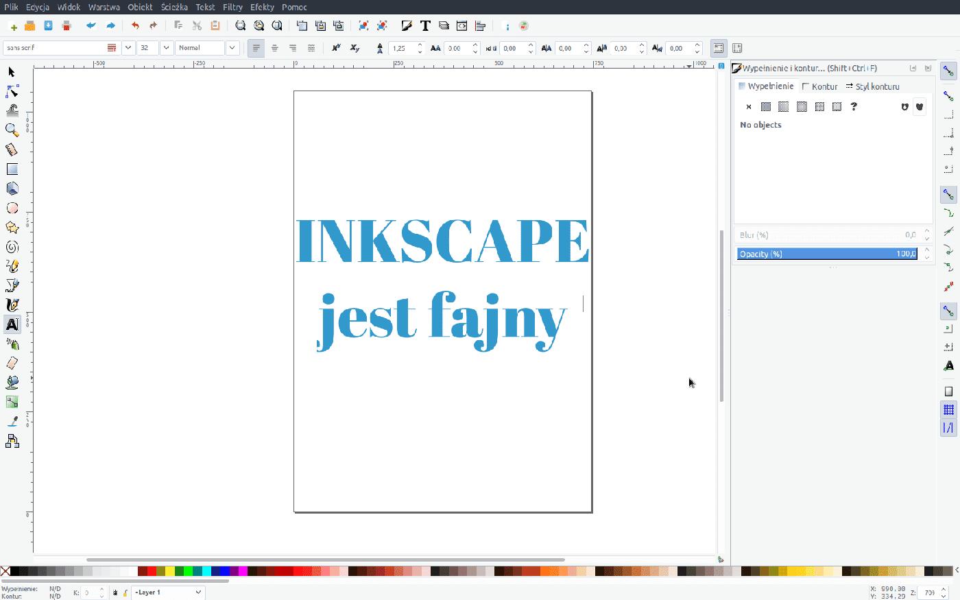 Inkscape zamiast illustratora na Linux