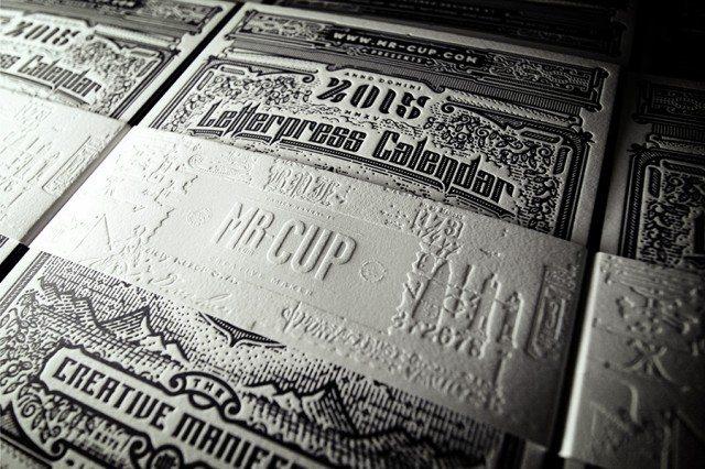 Kalendarz 2015 letterpress