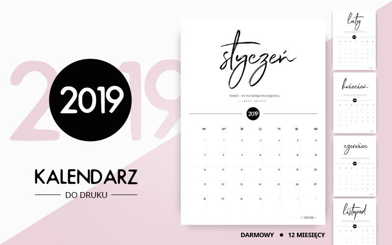 kalendarz do druku za darmo leci bocian