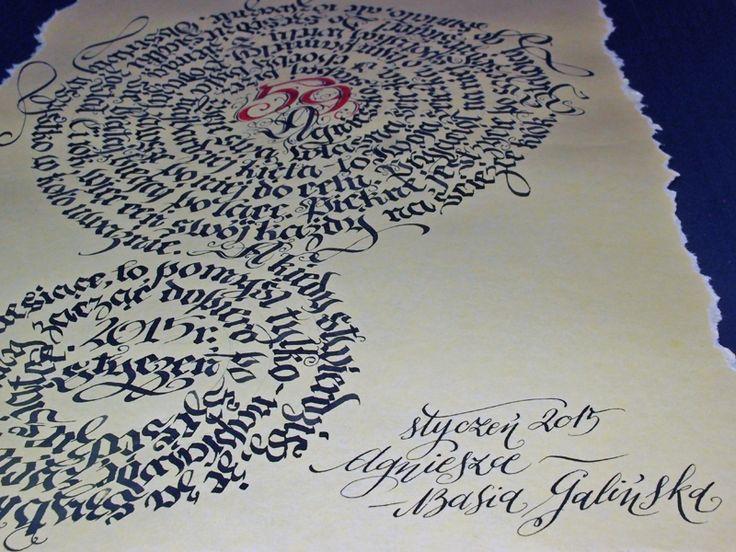 Przykładowa kaligrafia od Barbara Galińska