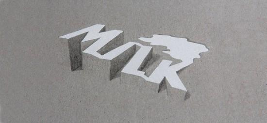 Lex Wilson typografia 3D