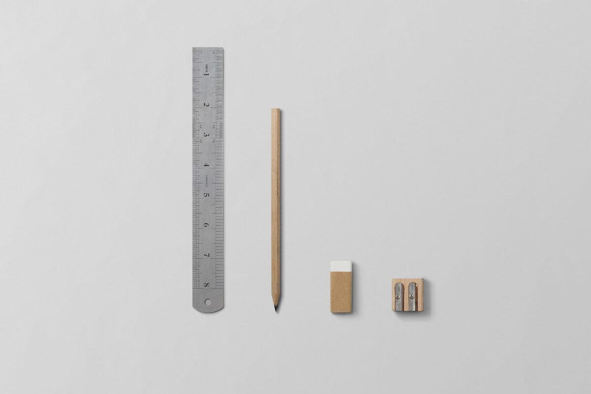 ołowek, gumka, linijka, strugaczka - najlepsi przyjaciele grafika