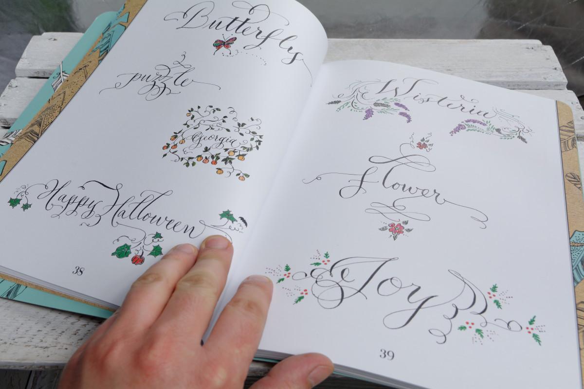 Laura Lavender nowoczesna kaligrafia