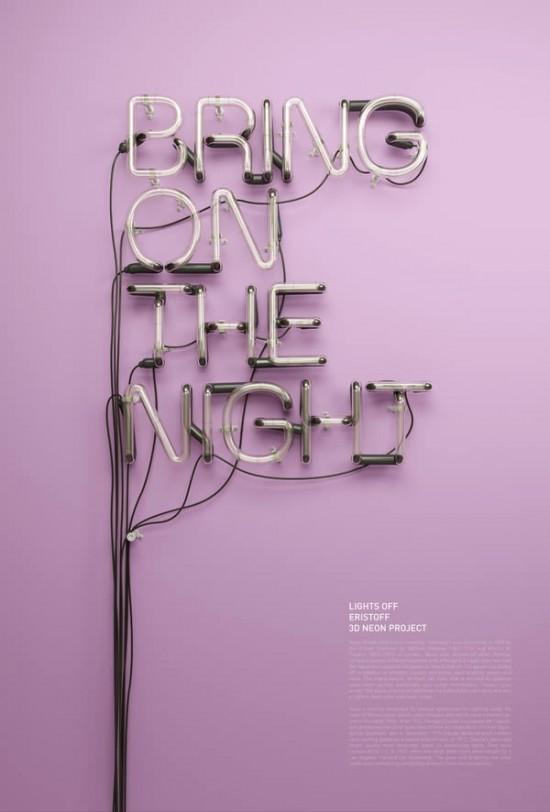 Neon reklamowy Eristoff
