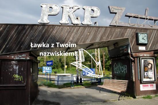 Neon PKP Zakopane rewitalizacja ławeczka z imieniem