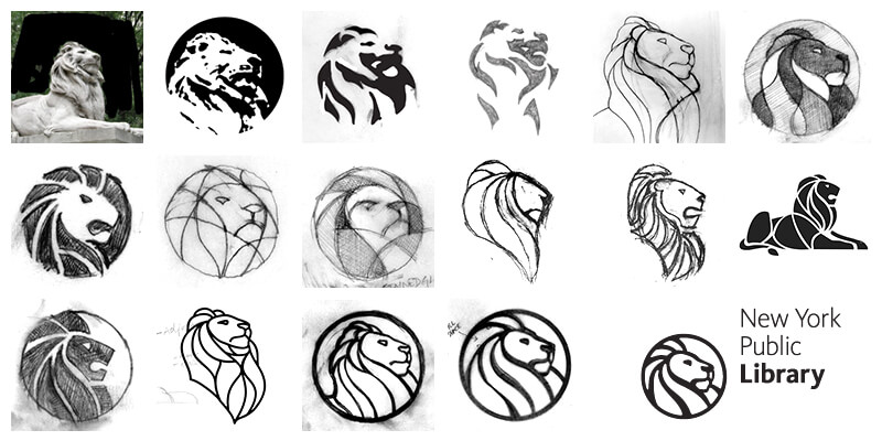 Projektowanie logo New York Public Library