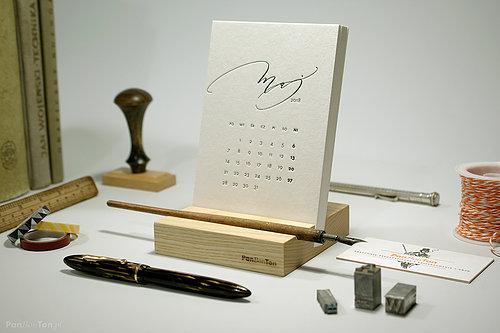 kalendarz 2018 letterpress