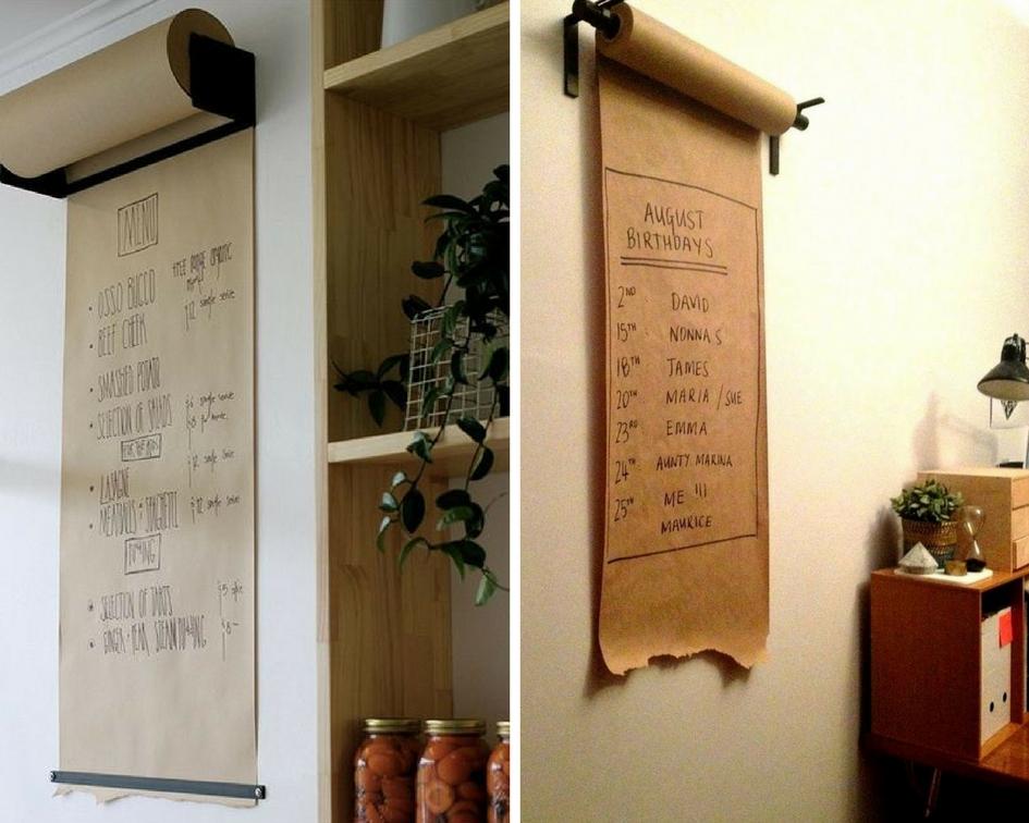 papier do rysowania w rolce na ścianie
