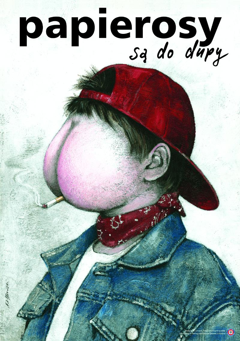 plakat papierosy są do dupy