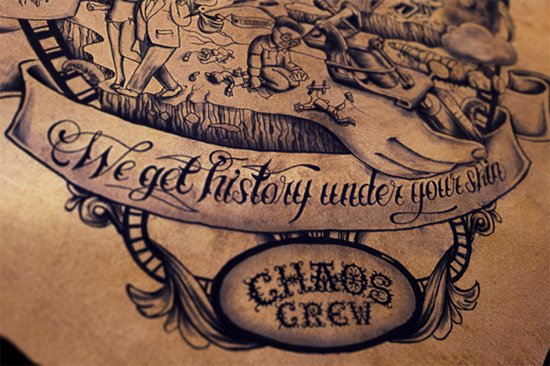 'we get history under your skin' - chaos crew