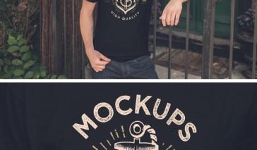 t- shirt mockup vintage