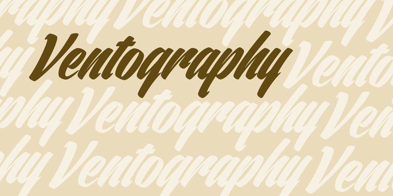 ventography odręczne fonty